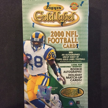 2000 Topps Gold Label HTA Football Hobby Box