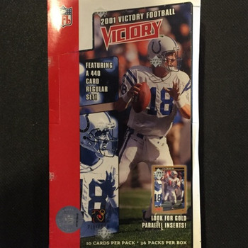 2001 Upper Deck Victory Football Hobby Box