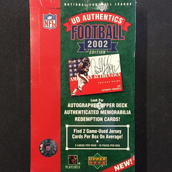 2002 Upper Deck Authentics Football Hobby Box