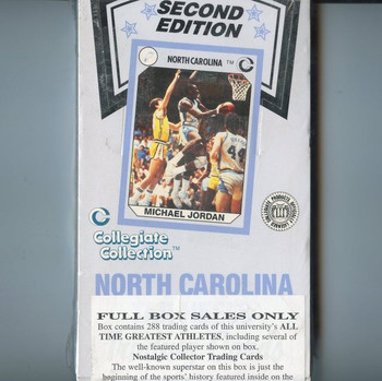 1990-91 Collegiate Collection North Carolina 2nd Edition Basketball Hobby Box