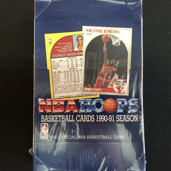 1990-91 Hoops Series 1 Basketball Hobby Box