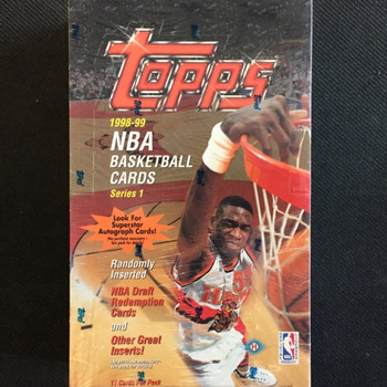1998-99 Topps Series 1 Basketball Hobby Box