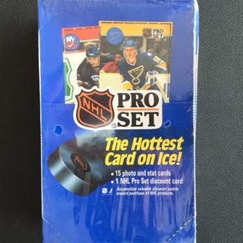 1990-91 Pro Set Series 1 Hockey Hobby Box