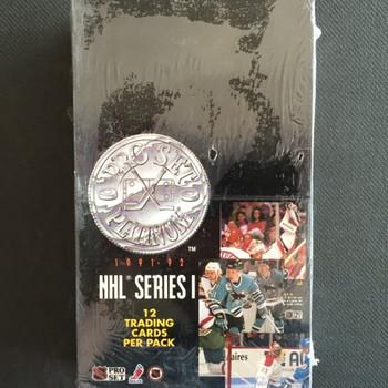 1991-92 Pro Set Series 1 Platinum Hockey Hobby Box