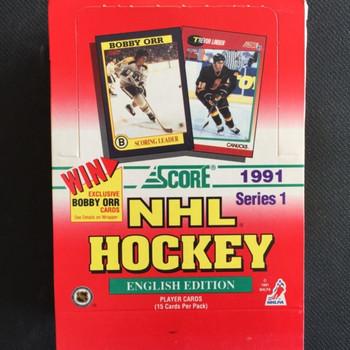 1991-92 Score Series 1 Hockey Hobby Box