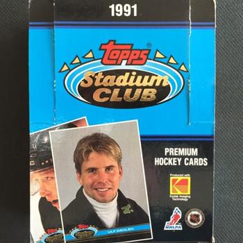 1991-92 Topps Stadium Club Hockey Hobby Box