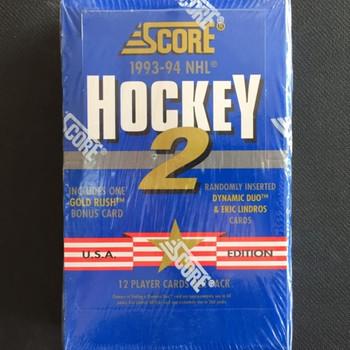 1993-94 Score Series 2 Hockey Hobby Box