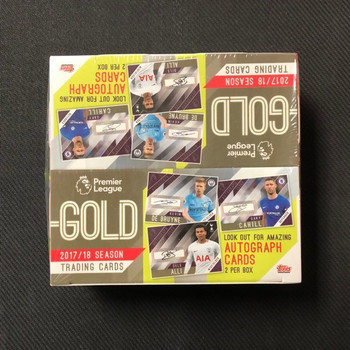 2018 Topps English Premier League GOLD Soccer HOBBY Box-2 AUTO