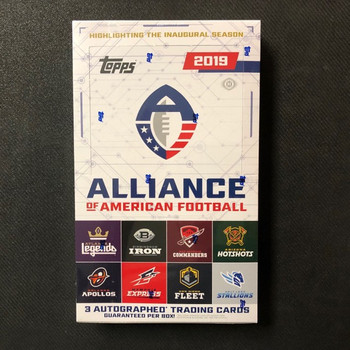 2019 Topps Alliance of American Football Hobby Box