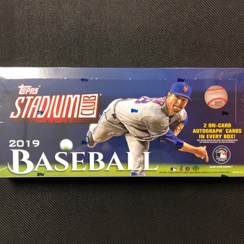 2019 Topps Stadium Club Baseball Hobby Box