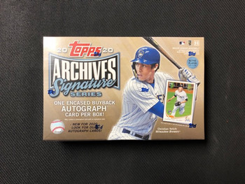 2020 Topps Archives Signature Series Baseball Box Active