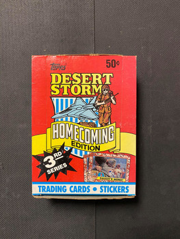 Desert Storm Homecoming Edition 3rd Series Wax Box