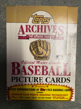 1991 Topps 1953 Archives Baseball Box