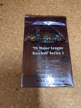 1998 Topps Chrome Series 1 Baseball Hobby Pack