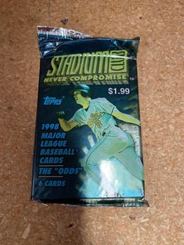 "1998 Topps Stadium Club ""Odds"" Baseball Retail Pack"