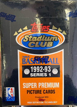 1992-93 Stadium Club Series 1 Basketball Box