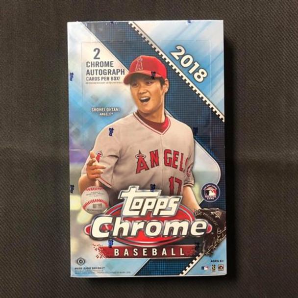 2018 Topps Chrome Baseball Hobby Box