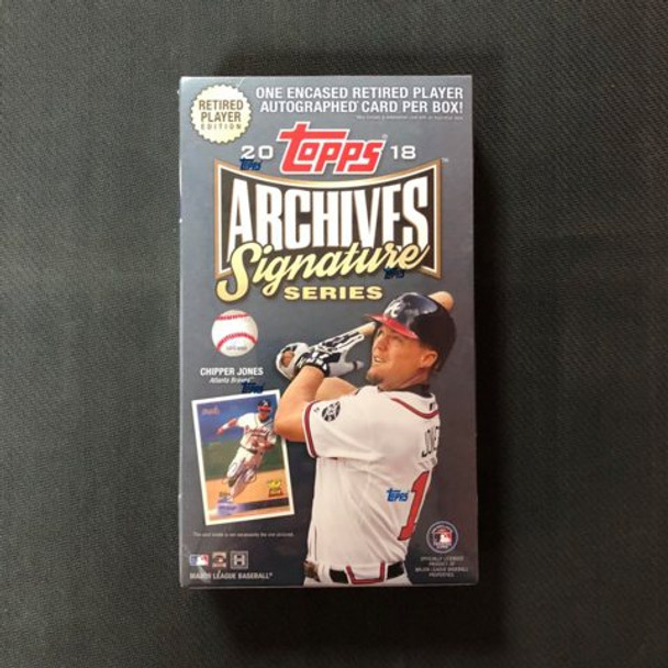 2018 Topps Archives Signature Series Retired Player Ed Baseball Box RPE