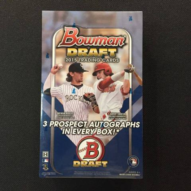 2015 Bowman Draft Picks & Prospects Baseball Jumbo Hobby Box