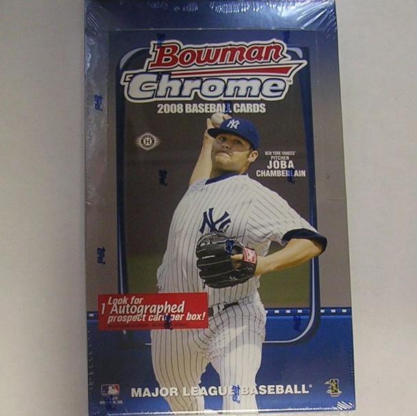 2008 Bowman Chrome Baseball Hobby Box