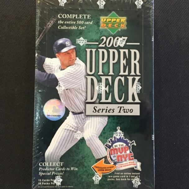 2007 Upper Deck Series 2 Baseball Hobby Box