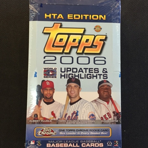 2006 Topps Updates & Highlights HTA Baseball Jumbo Box