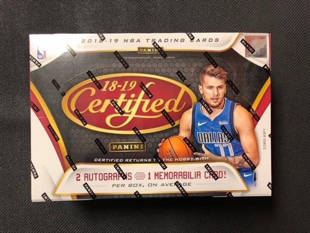 2018/19 Panini Certified Basketball Hobby Box