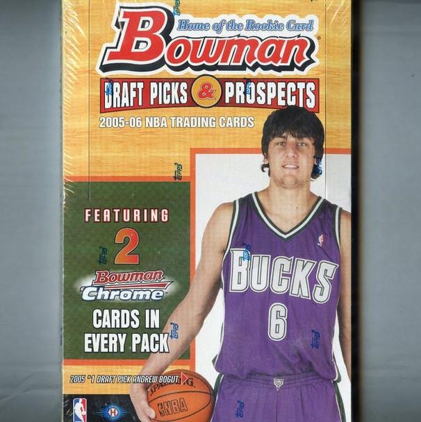 2005-06 Bowman Draft Picks and Prospects Basketball Hobby Box