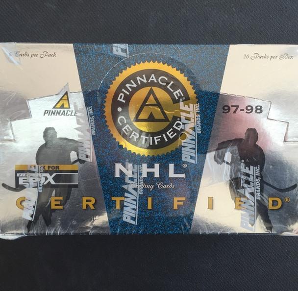 1997-98 Pinnacle Ceritfied Hockey Hobby Box