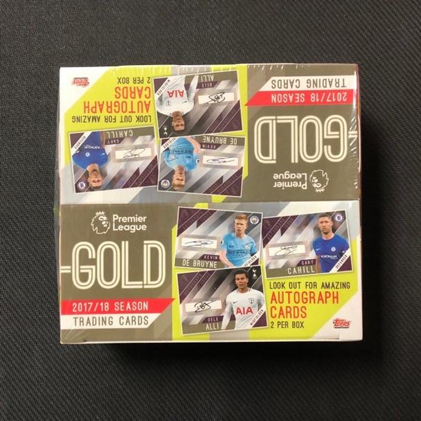 2018 Topps English Premier League GOLD Soccer HOBBY Box-2 AUTO