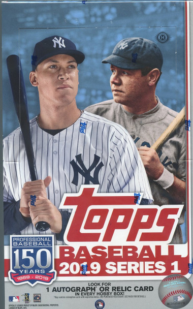 2019 Topps Series 1 Baseball Hobby Box plus 1 Silver Pack
