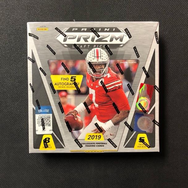 2019 Panini Prizm Collegiate Draft Picks Football Hobby Box