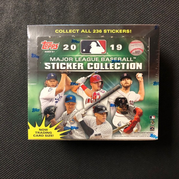 2019 Topps Sticker Collection Baseball Box