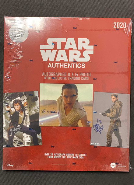 2020 Topps Star Wars Authentics Autographed 11x14 Photo & Trading Card Box