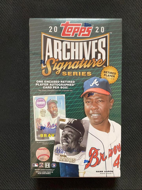2020 Topps Archives Signature Series Retired Player Ed Baseball Box