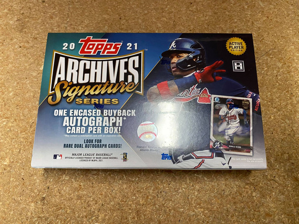 2021 Topps Archives Signature Series Baseball Box