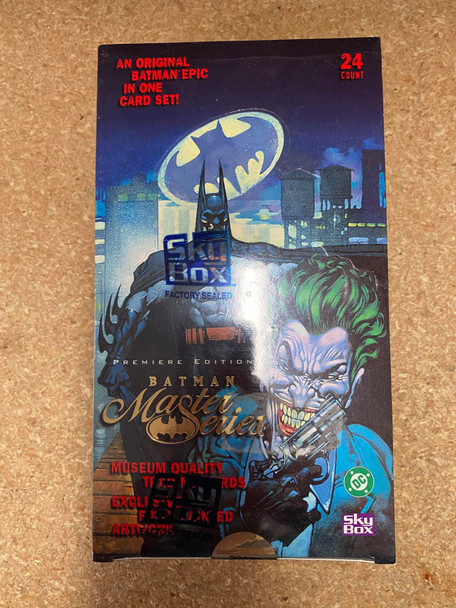 1996 Skybox Batman Premiere Edition Master Series Box