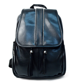 Mini PU Leather Backpack with Tassels