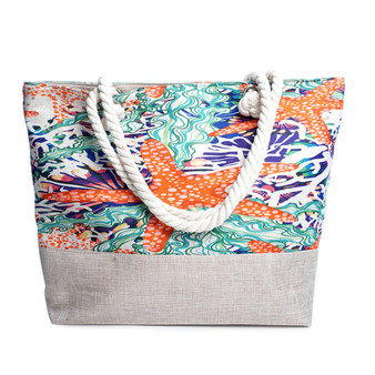 Starfish Beach Ladies Tote Bag