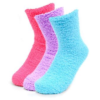 Women's Solid Bright Color Warm Fuzzy Socks