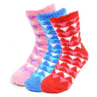Women's Geometric Warm Fuzzy Socks