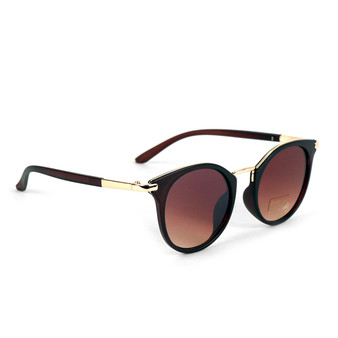 Dark Brown Round Women Sunglasses