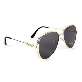 Gold Metal Frame Aviator Sunglasses