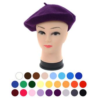 Ladies Wool Beret Hat