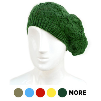 Ladies Knitted Beret Hat