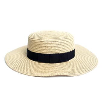 Spring/Summer Flat Top Wide Brim Women's Hat
