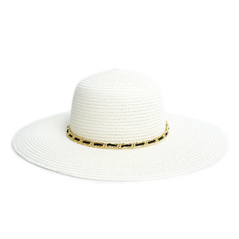 Spring/Summer Floppy Hat with Chain Detail