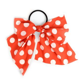 Ladies Red Polka Dots Ribbon Hair Tie
