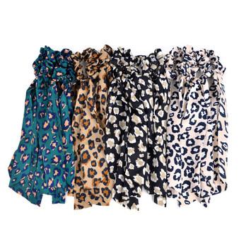 12pc Cheetah Print Scrunchie Ribbon Hair Tie