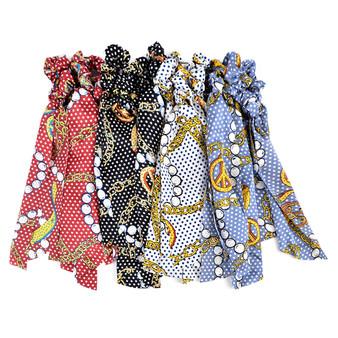 12pc Peace Chain Scrunchie Ribbon Hair Tie